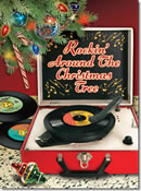 Retro Record Player Christmas Card