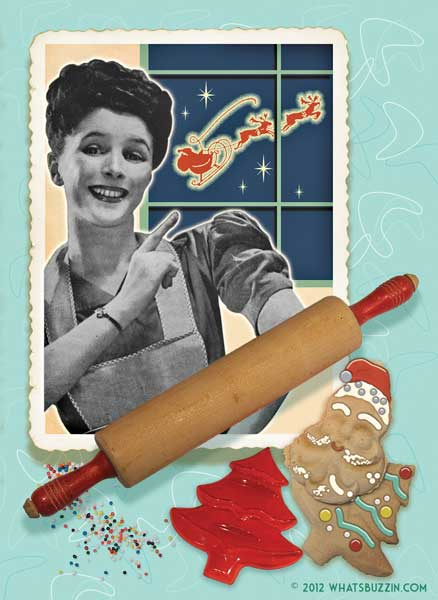 Retro Christmas Cookies Card