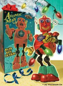Tin Toy Robot Christmas Card