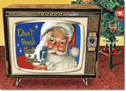 TV Santa Christmas Card
