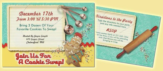 Christmas Cookie Swap Party Invitations