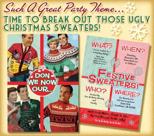 Holiday Sweater Party Invitations
