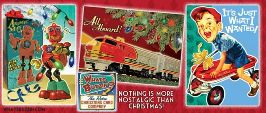 whatsbuzzin.com Retro Christmas Cards with Toys